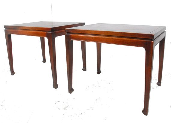 Pair Of Elegant Vintage Mahogany End Tables By RevolverSeattle, $695.00