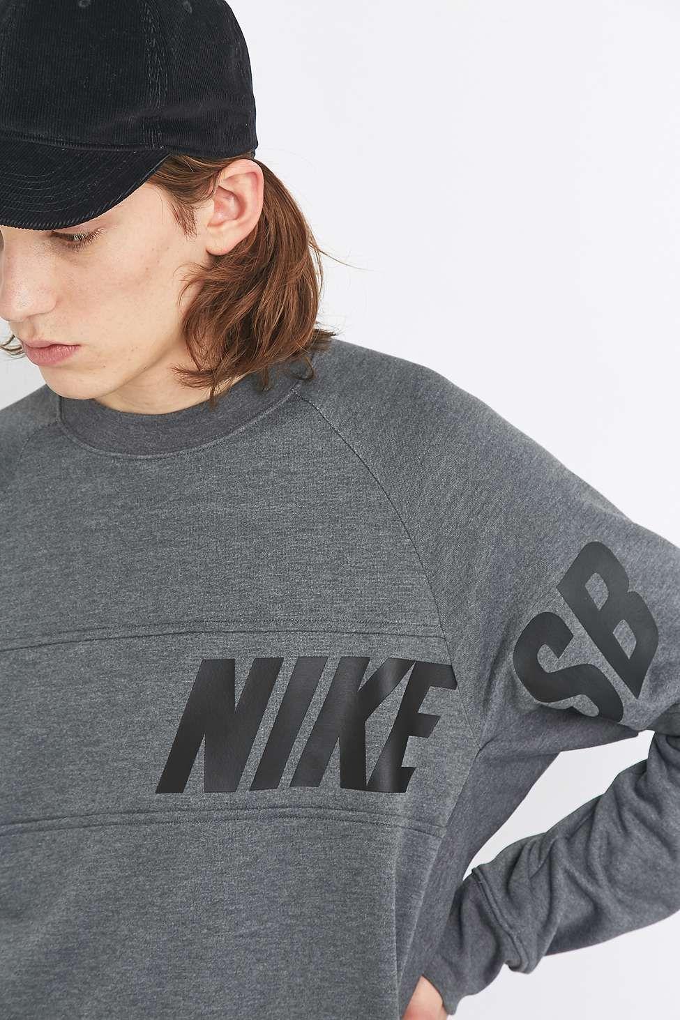 Nike Sweat Ras Du Cou Sb Everett Gris Grey Crewneck Crew Neck Sweatshirt Nike Sweats [ 1463 x 975 Pixel ]