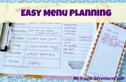How To Start Weekly Menu Planning  Free Menu Plan Worksheet