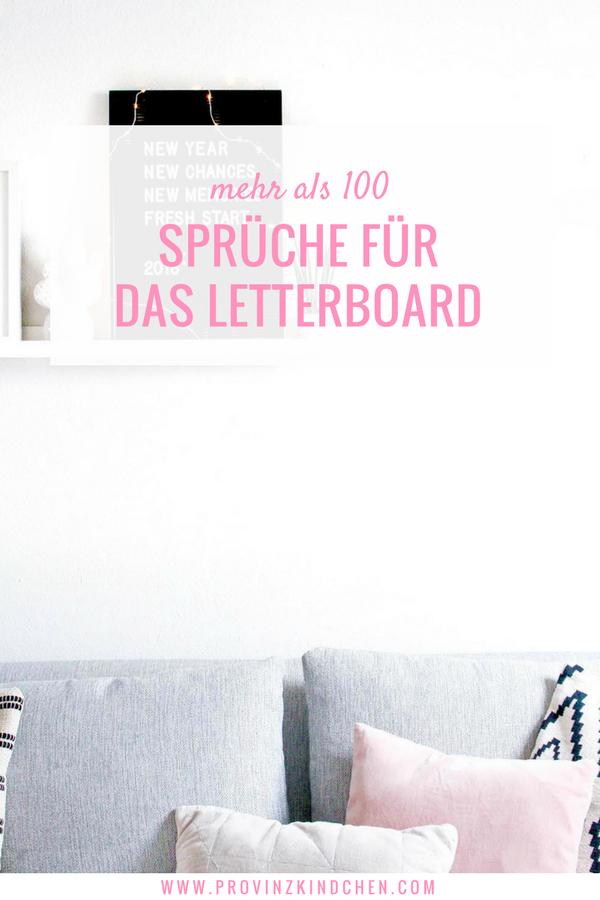 Mehr Als 100 Spruche Fur Das Letterboard Provinzkindchen Com