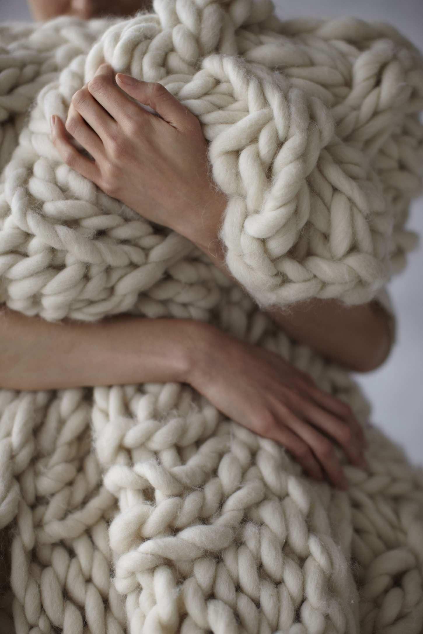 Free Chunky Wool Blanket Pattern | Stricken und Häkeln