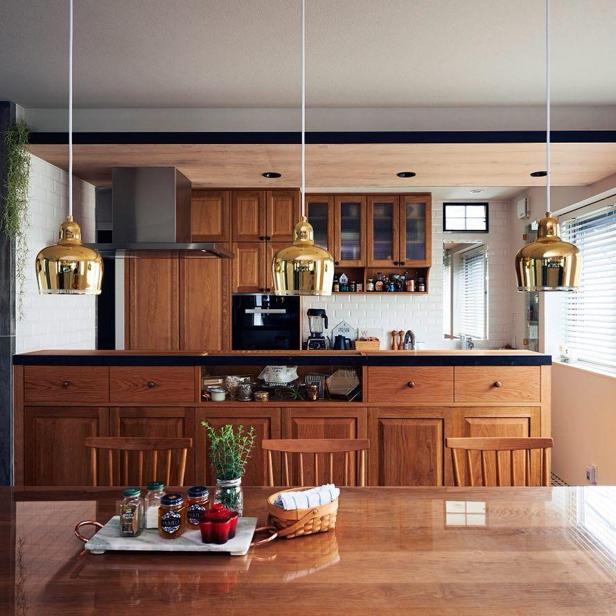 ヘーベルハウス 旭化成ホームズ株式会社 On Instagram アルテックのペンダントライト Golden Bell Savoy と木目の美しいキッチンが上質な空間を演出 Home Decor Decor Home