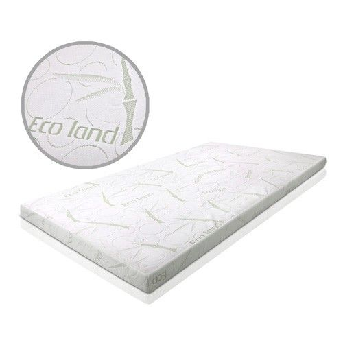 Gel Memory Foam Mattress 8cm Topper Organic Bamboo Fabric W Cover