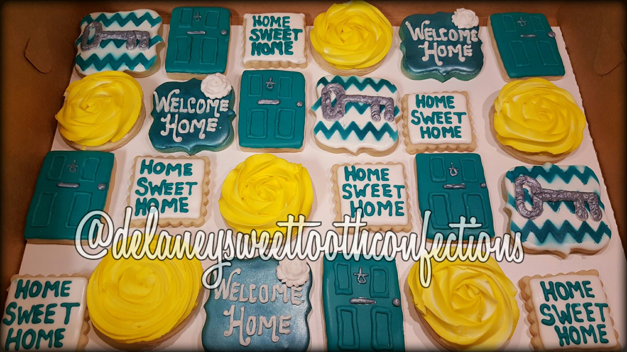 Decorated Cookies Home Warming Party