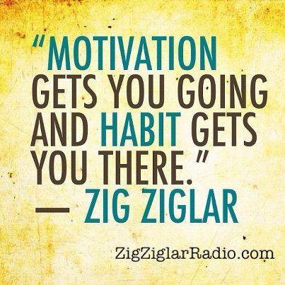 Motivation and Habits ~ Zig Ziglar James Malinchak Big Money Speaker Quote Box For FREE Training Videos and Articles visit www.JamesMalinchak.com