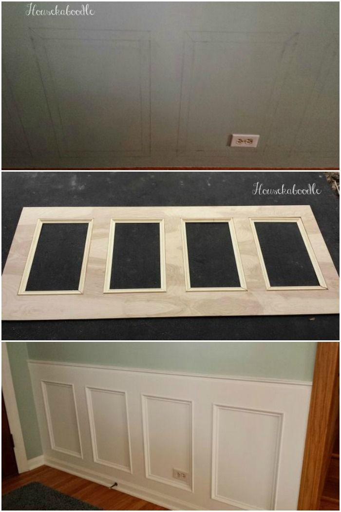how to make a recessed wainscoting wall from scratch diy projects rh pinterest com