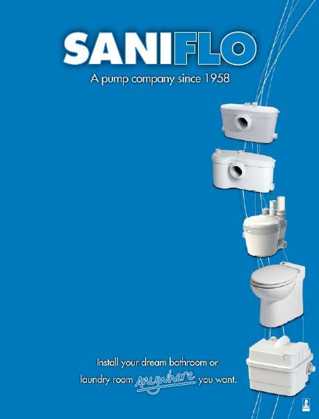 Saniflow Pumps Allow A Bathroom To Be Installed Anywhere
