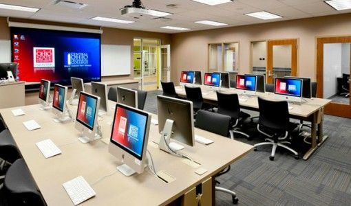 college computer lab interior design ideas stunning computer lab rh pinterest com
