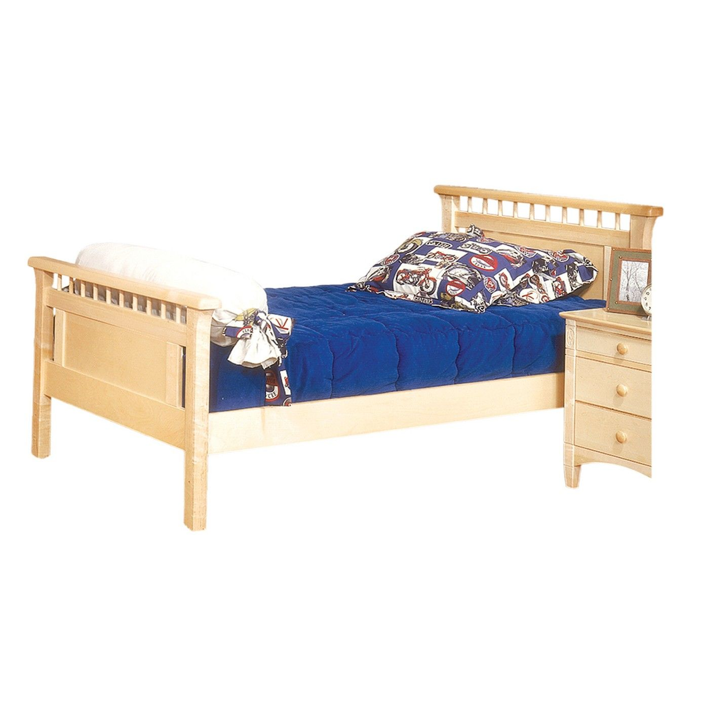 Bennington Twin Bed With Headboard And Footboard Natural