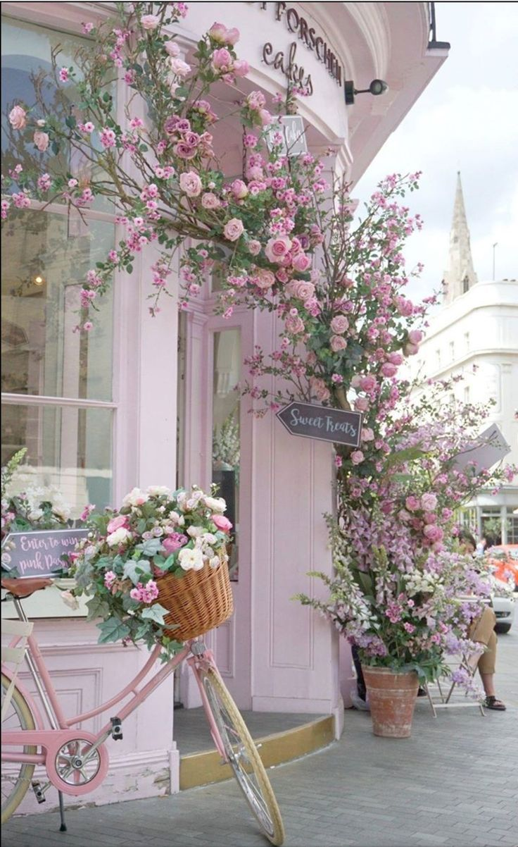 Pinterest Shabby Chic Garten Romantic Pink Shabby Chic Cottage Bicycle Flowers Street