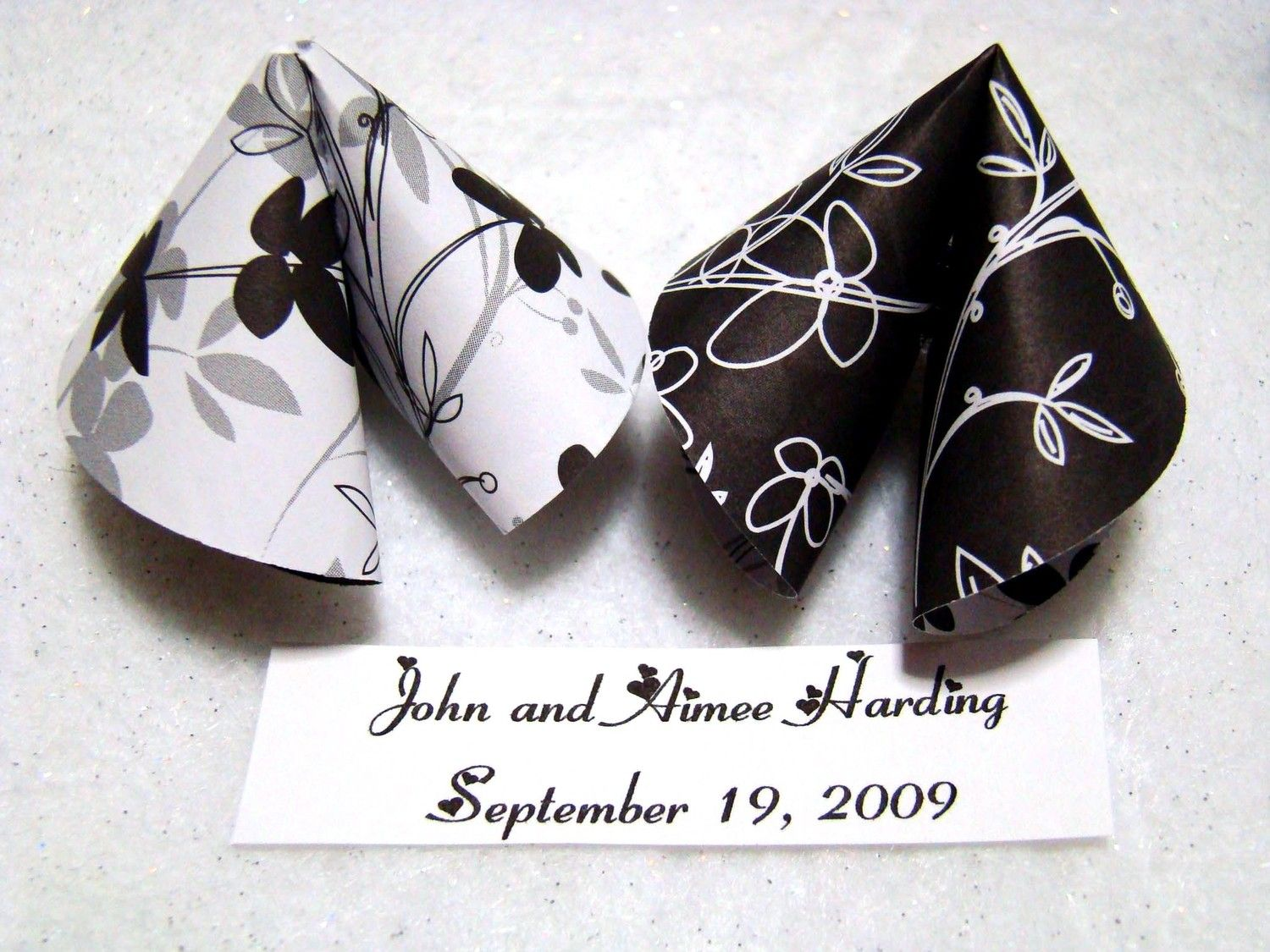 Origami Fortune Cookies Black and White by OrigamiDelights | Wedding ...