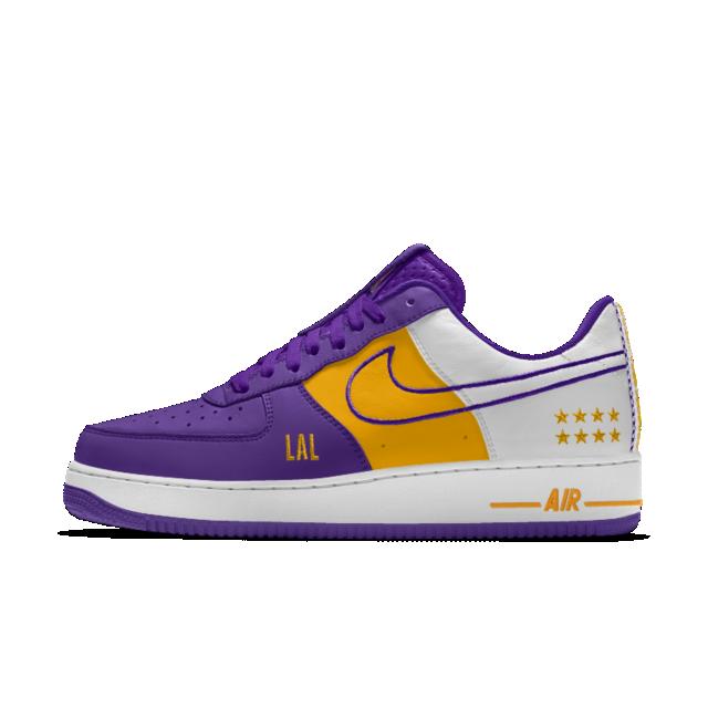 27358a067db7c1 Nike Air Force 1 Low Premium iD (Los Angeles Lakers) Herrenschuh ...