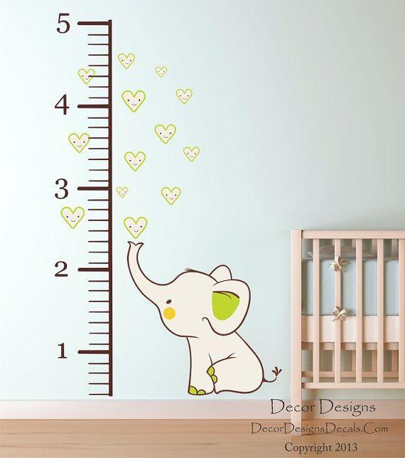 Elephant Growth Chart 85 wide x 54 high, Elephant measures 19 - boys growth chart
