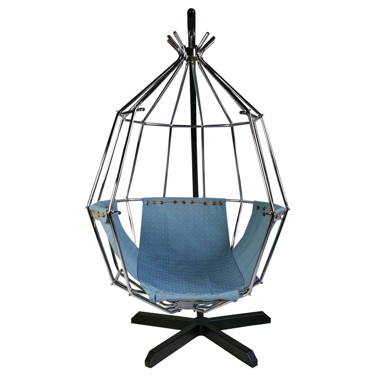 Exceptional Ib Arberg Hanging Birdcage Chair Or Parrot Chair, Circa 1970 | 1stdibs.com