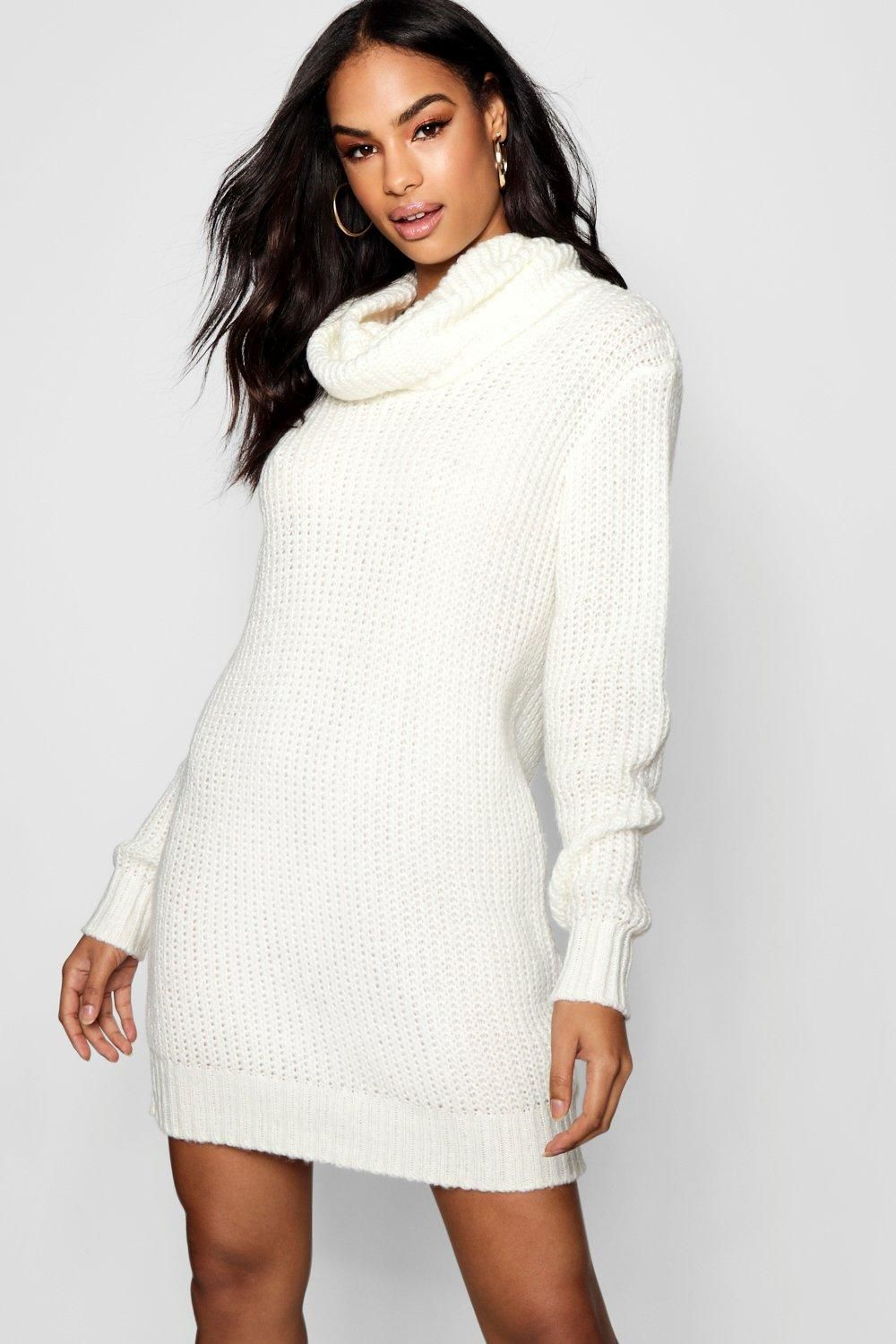 4e9b790a5e Click here to find out about the Oversized Soft Knit Cowl Neck Jumper Dress  from Boohoo, part of our latest Dresses collection ready to shop online  today!