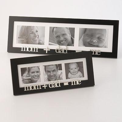 mom + dad = me .... cute frame