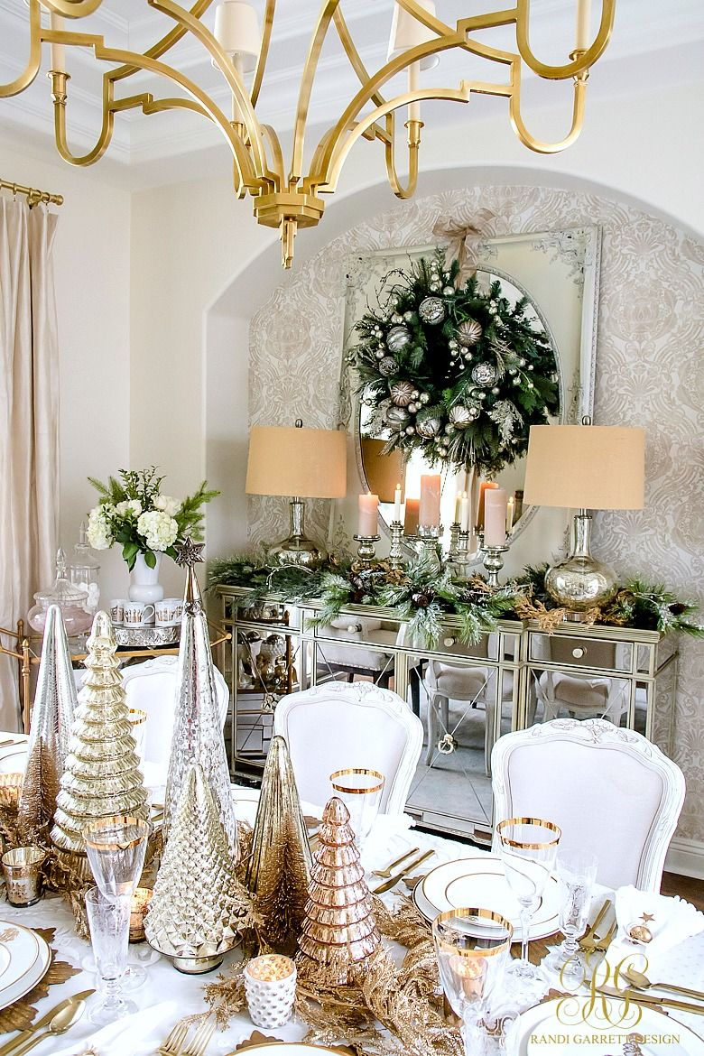 Elegant Gold Christmas Table Scape Randi