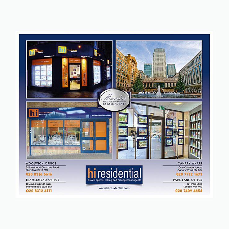 Estate agents 4 office network flyer design