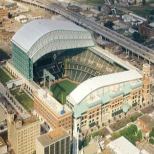 Astros Ballpark In Houston The Second Fully Air Conditioned Retractable Roof Stadium In The World Minute Maid Park Houston Minute Maid Park Baseball Park