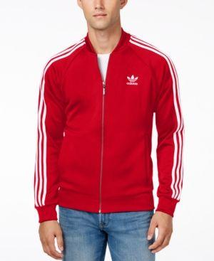 2ec5176c adidas Originals Men's Superstar Zippered Track Jacket - Red 2XL ...