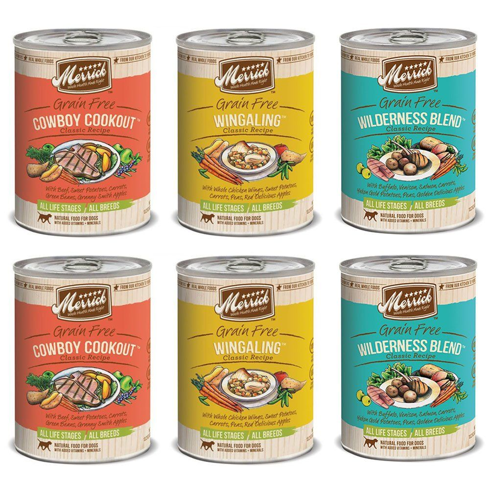 Merrick classic recipe canned dog food variety pack 2