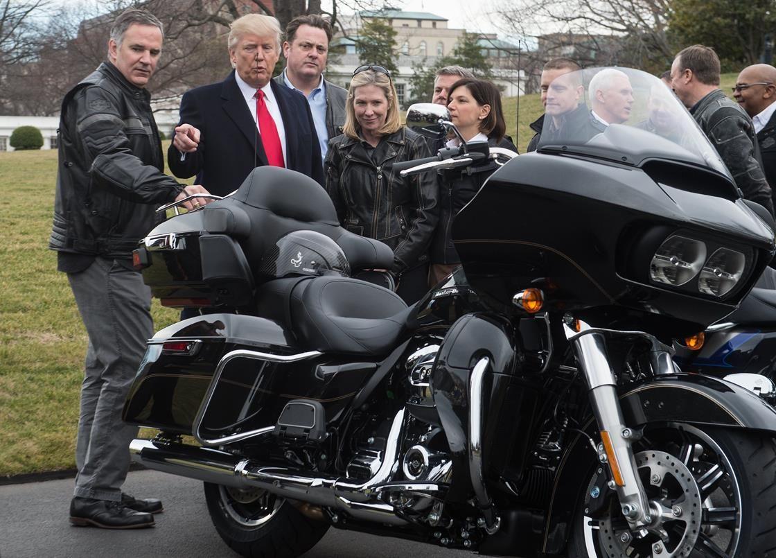 Trump and Pence meeting Harley Davidson executives