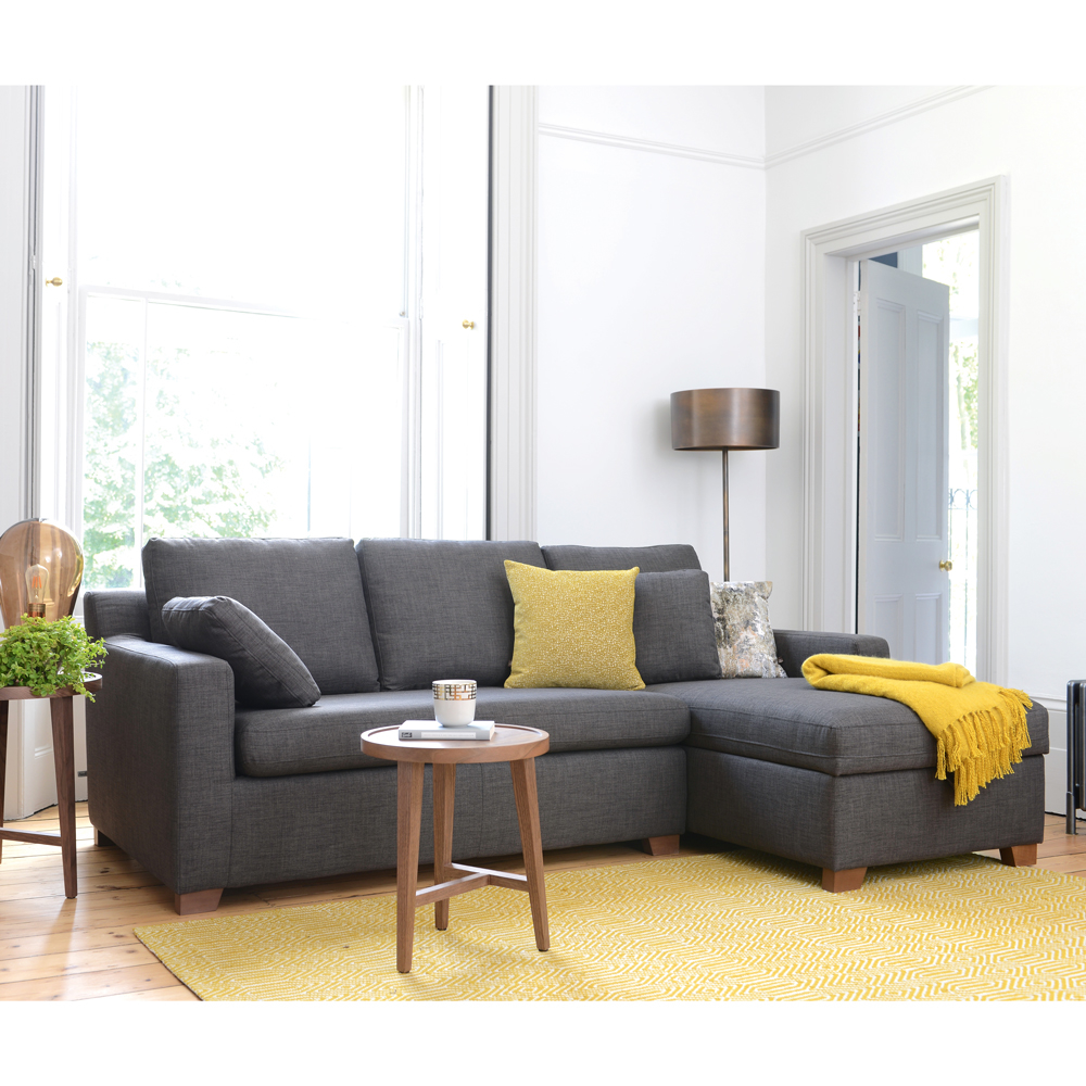 Ankara right hand corner sofa bed with storage truffle