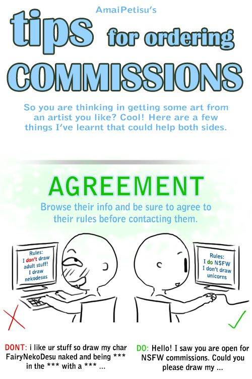 Tips For Ordering Commissions  Technical    Sky High
