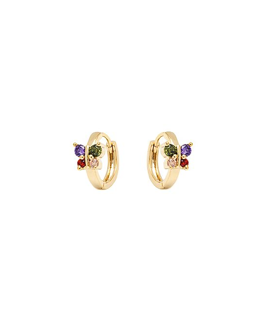 Gold Butterfly Huggie Earrings With Swarovski® Crystals - Girls