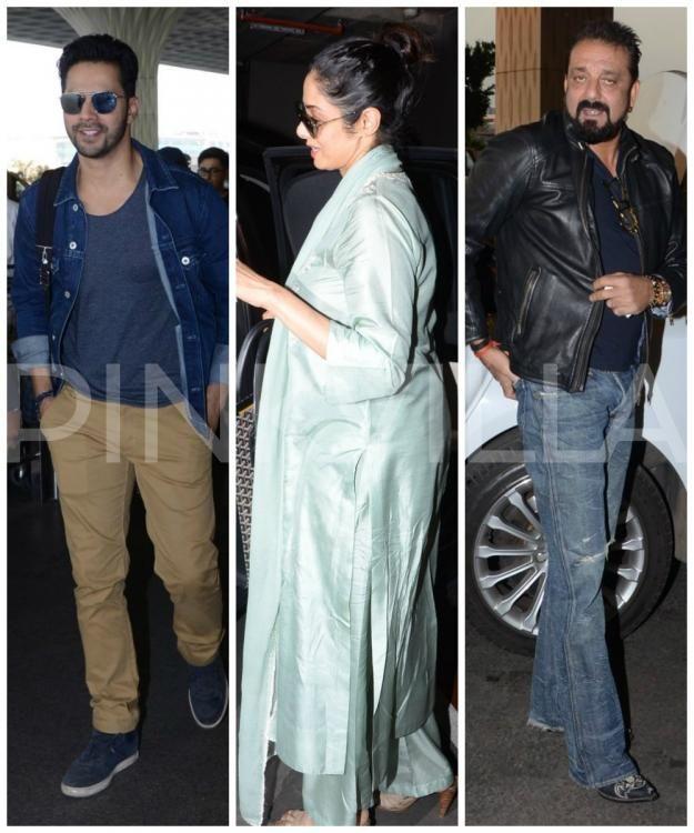 Varun Dhawan, Sridevi and Sanjay Dutt sport a stylish look ...