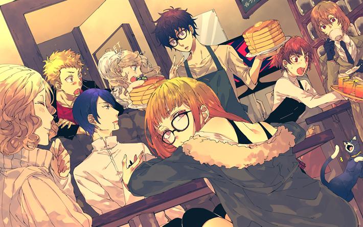 Download wallpapers Persona 5, 4k, Megami Tensei, Futaba