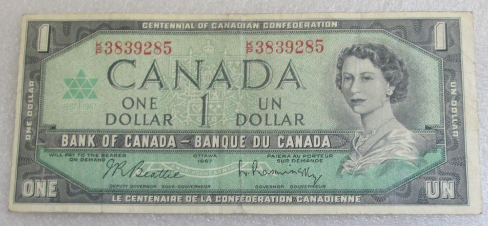 Canadian Uncirculated 1973  $1.00 /& 1986  $2.00 Banknotes