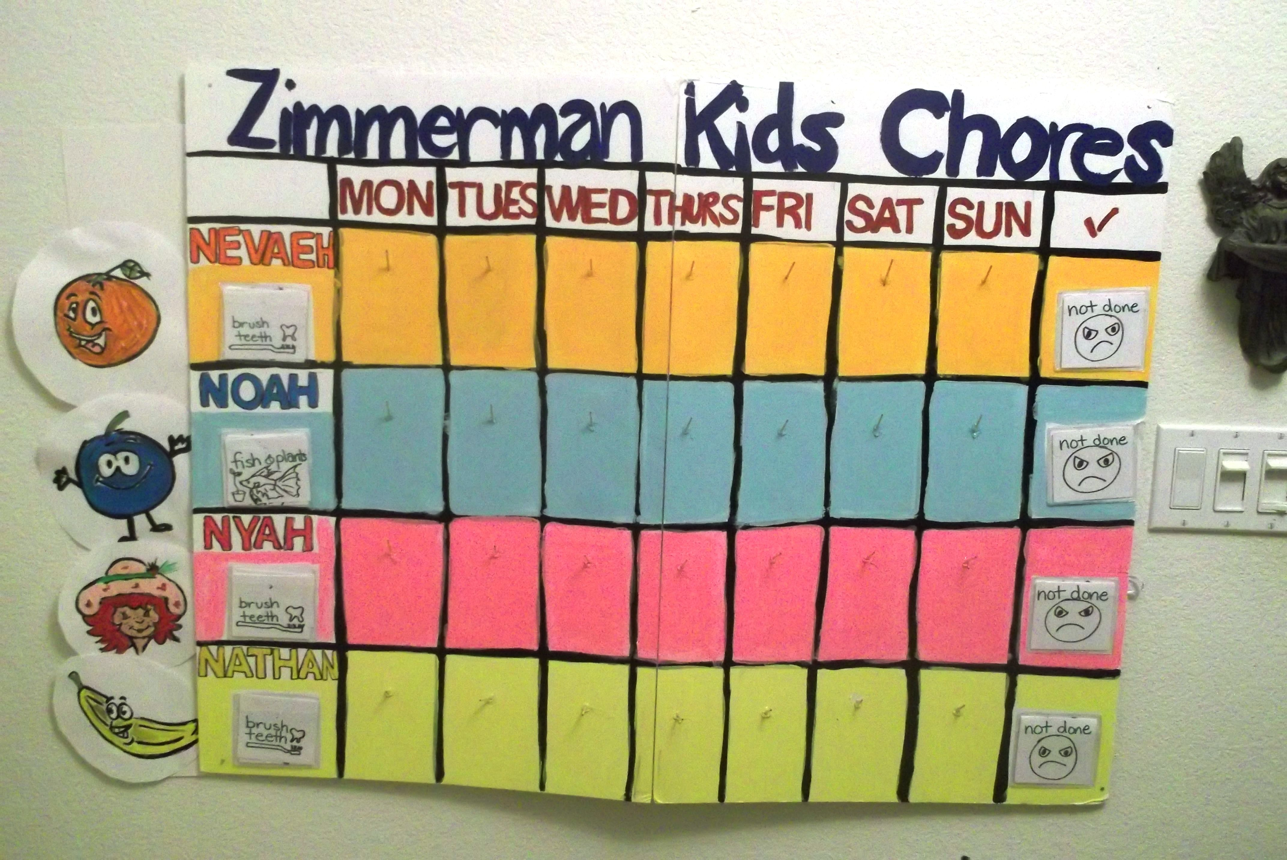 Make Your Own Chore Chart With Items Around The House Supplies Needed Toothpicks Paint Sharpies Cardboard Posterboard Chore Cards Chores For Kids Note Cards [ 2864 x 4288 Pixel ]