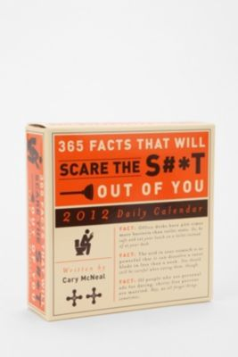 UrbanOutfitters.com > 365 Facts To Scare The S#*t Out Of You 2012 Calendar