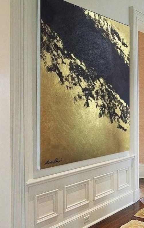 Huge Painting  Abstract painting  GOLD   BLACK  Original painting  Canvas Handma    -   - #abstract #AbstractPaintings #black #canvas #FineArt #Gold #Handma #Huge #original #painting #WatercolorPainting
