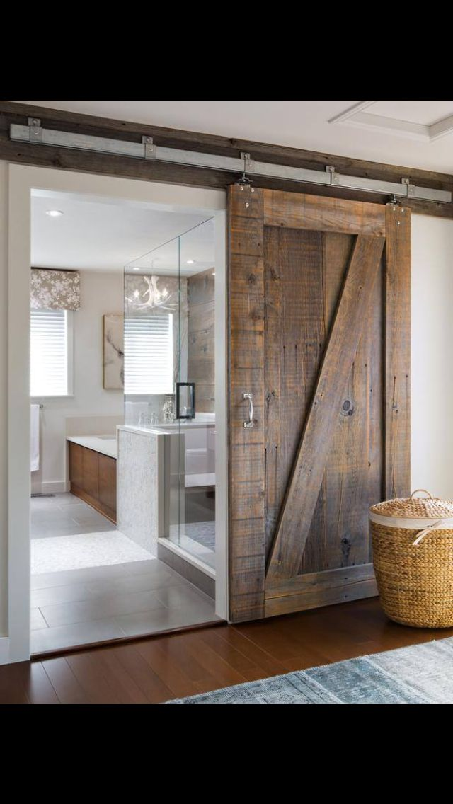 bathroom door diy pinterest house bathroom barn door and home rh pinterest com
