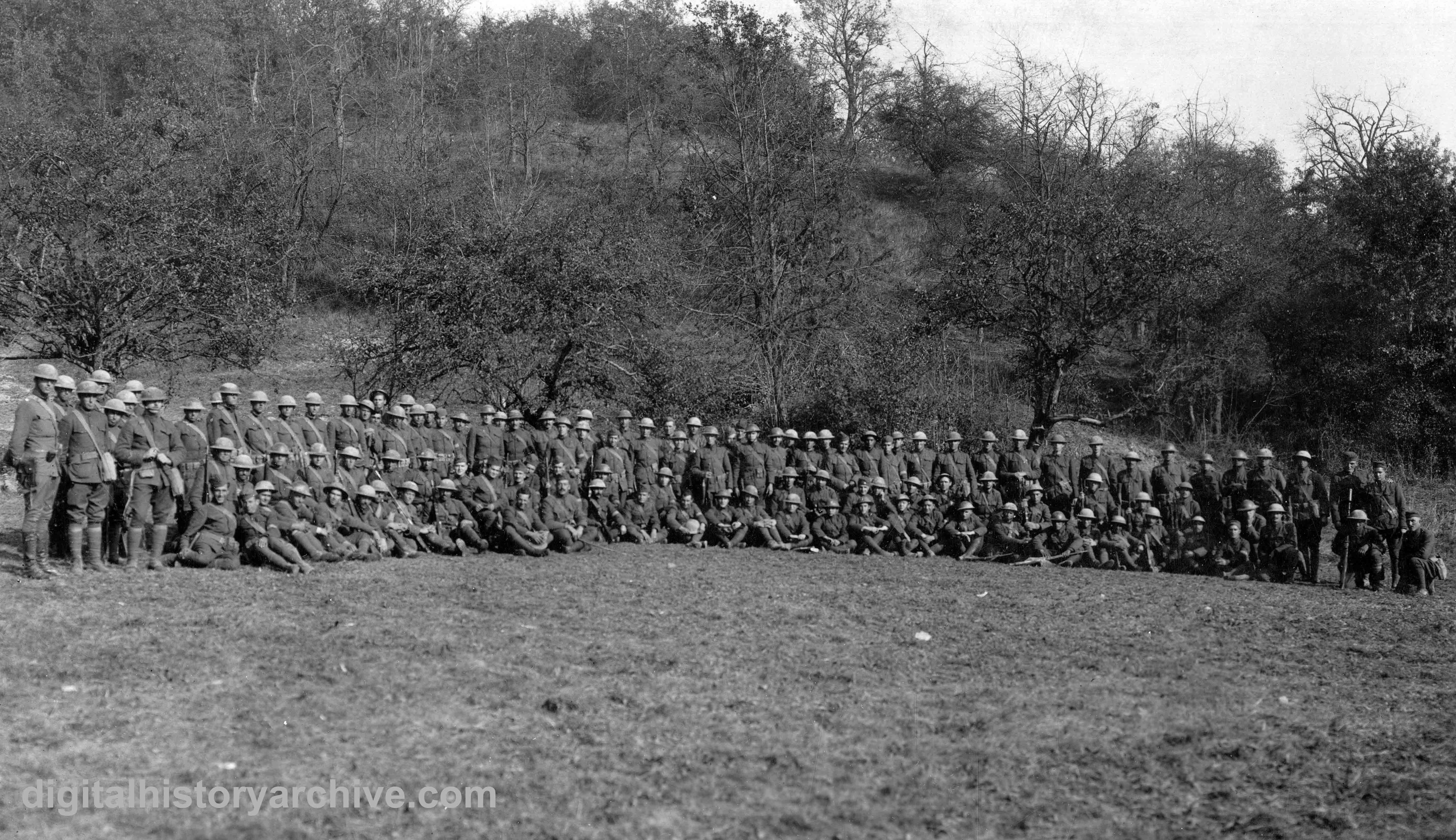 WWI, 1918. Major Charles Whittlesley and surviving soldiers of the ...