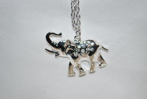 "Animal Elephant Necklace, 30"" Chain, 1"" H Charm, Silver Tone by Value Line, http://www.amazon.com/dp/B0073WUREM/ref=cm_sw_r_pi_dp_reMLqb1EHGTF5"