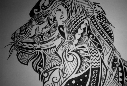 Maori Inspired Lion Tattoo Design Feel Free To Share By No Mercy Tatuagem Maori Tatoo Tatuagem