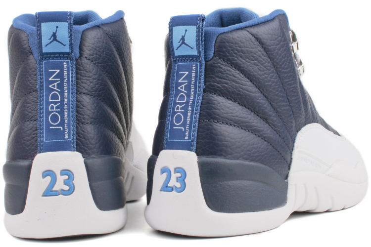 "NIKE AIR JORDAN 12 Retro 130690 410    Obsidian / University Blue-White-French Blue  ""Obsidian"""