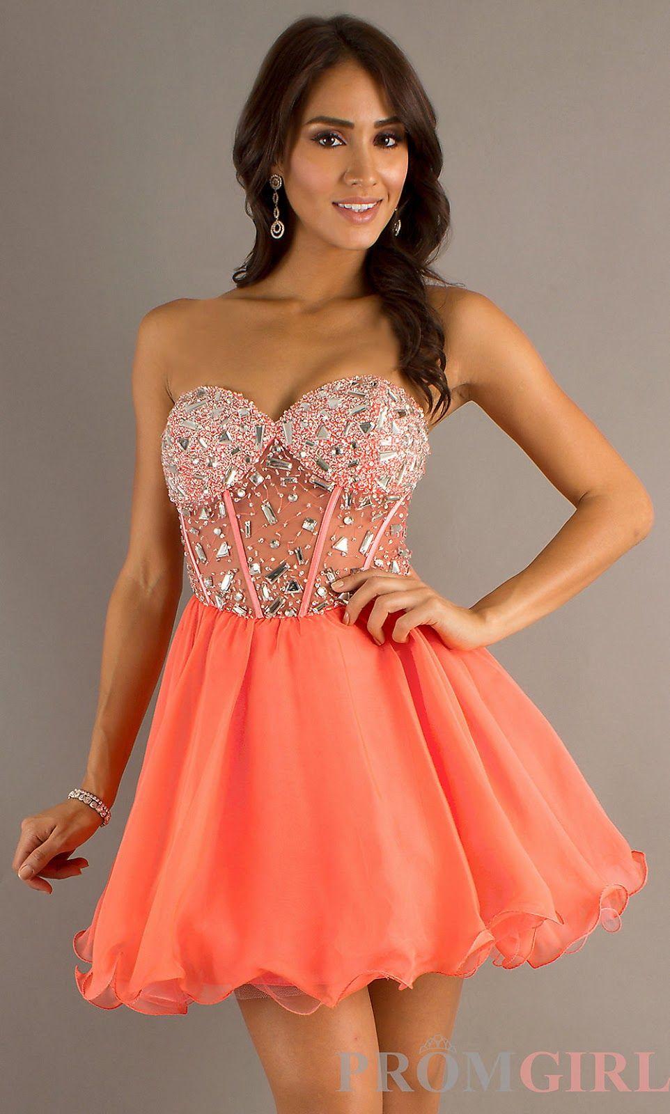 Tidebuy short cheap prom dress orange pinterest prom