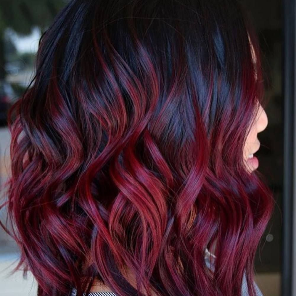 How To Get Peanut Butter And Jelly Hair Simplemost Wine Hair Wine Hair Color Maroon Hair