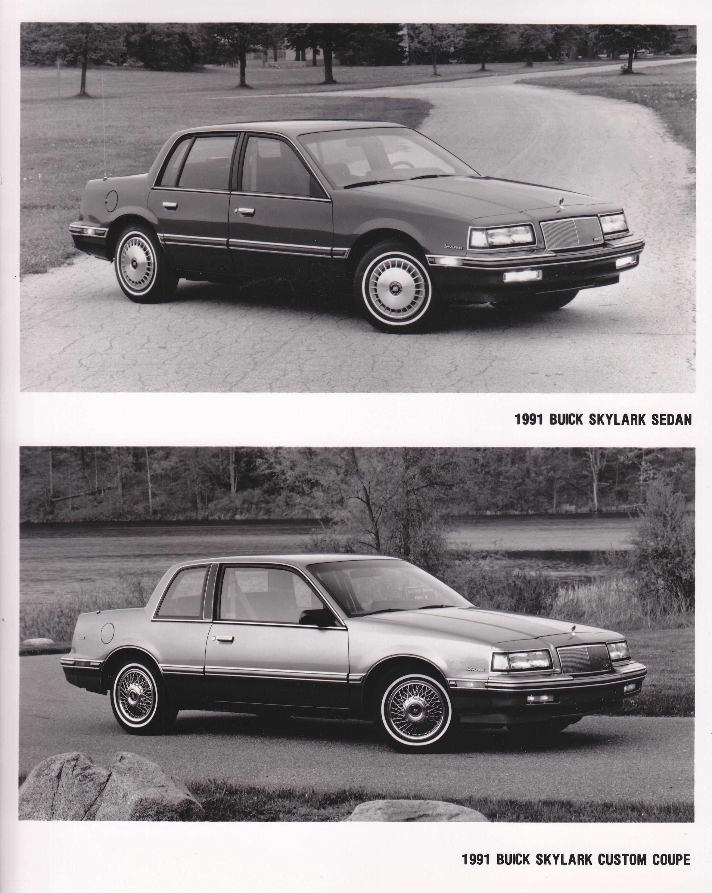 buick skylark sedan custom coupe 1991 usa general motors rh pinterest com