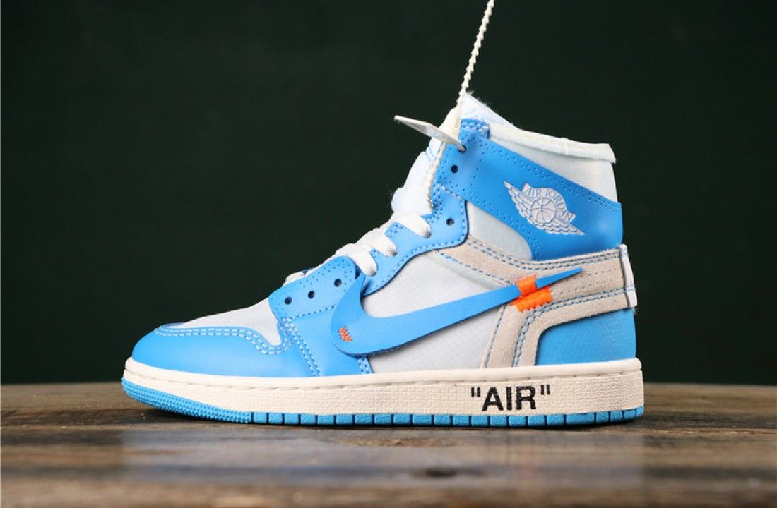 Off White X Air Jordan 1 Powder Blue Unc Aq0818 148 In 2020 Air