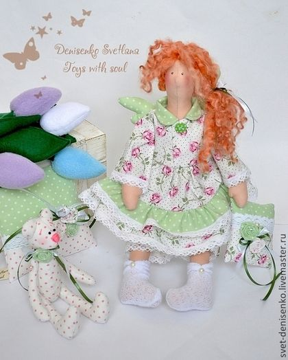 Куклы Тильды ручной работы. Ярмарка Мастеров - ручная работа Кукла тильда Сплюшка ангел добрых снов. Handmade.