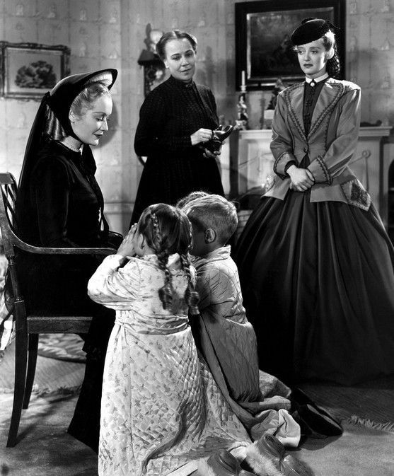 Miriam Hopkins, Louise Fazenda, and Bette Davis in The Old Maid (1939)