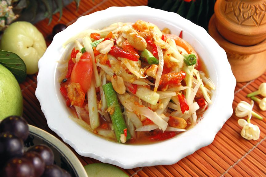 Som Tum Or Som Tam According To Thai Dictionary Means A Kind Of Thai Food Salad Made From Fruits Such As Payaya Etc Pounded And Combi อาหาร ส มตำ ส ตรอาหารไทย