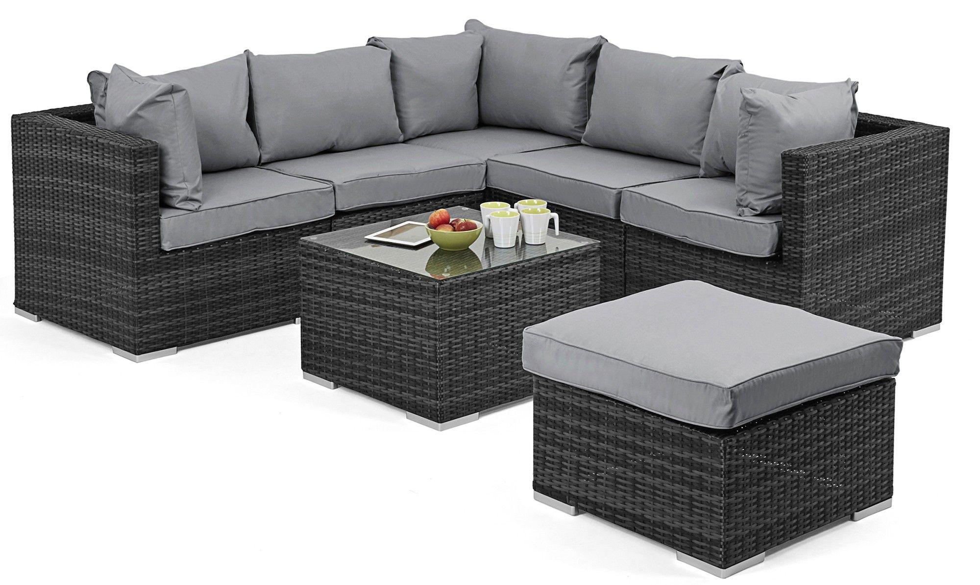 naples corner sofa grey rattan garden set rattan sofa sets fishpools - Garden Furniture Corner Sofa