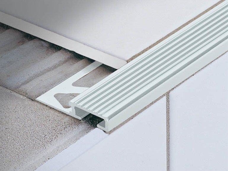 Stair Nosing Profile For Ceramic And Wood Coverings Stairtec Fo By Profilitec Stair Nosing Stairs Metal Stairs
