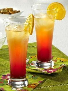 Tequila-Sunrise-Cocktail mit Orangen und Prosecco #alcoholicpartydrinks